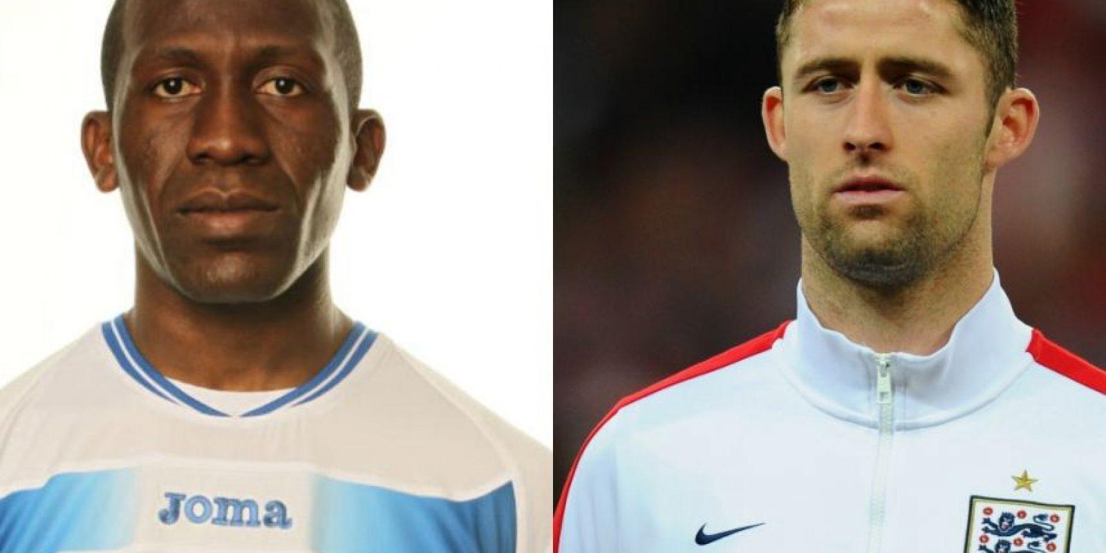 Hendry Thomas y Gary Cahill – El defensa inglés tiene 29 años y ¿adivinen qué? ¡El futbolista hondureño también tiene esa edad! Foto:Getty Images