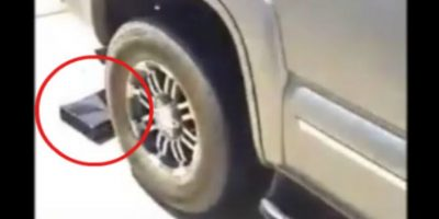 Video: Padre destruye Xbox de su hijo pasándole auto encima