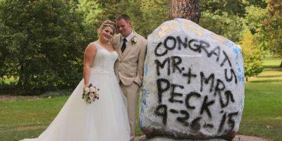 Así lució la feliz pareja. Foto:Vía facebook.com/DeliaDBlackburnPhotography