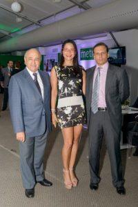 Rafael Acevedo, Martina Fernández y Nelson Castillo.