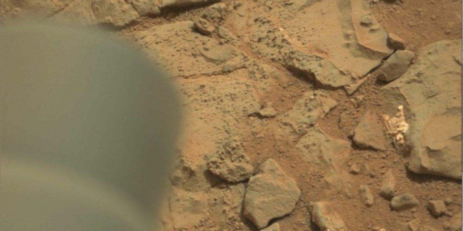 Esta es la imagen difundida por la NASA Foto: original en http://mars.jpl.nasa.gov/msl-raw-images/msss/00153/mcam/0153MR0008470180201260E01_DXXX.jpg