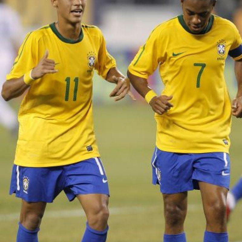 2010 – Este año comenzó a destacar y fue llamado a la Selección de Brasil. Foto:Getty Images