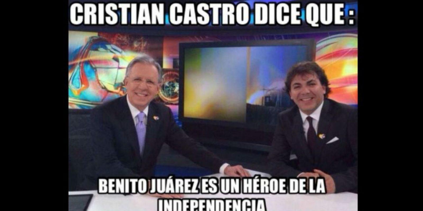 En una entrevista con el periodista mexicano Joaquín López Doriga, Cristian Castro confundió a un personaje de la historia de México Foto:vía twitter.com/cristiancastro