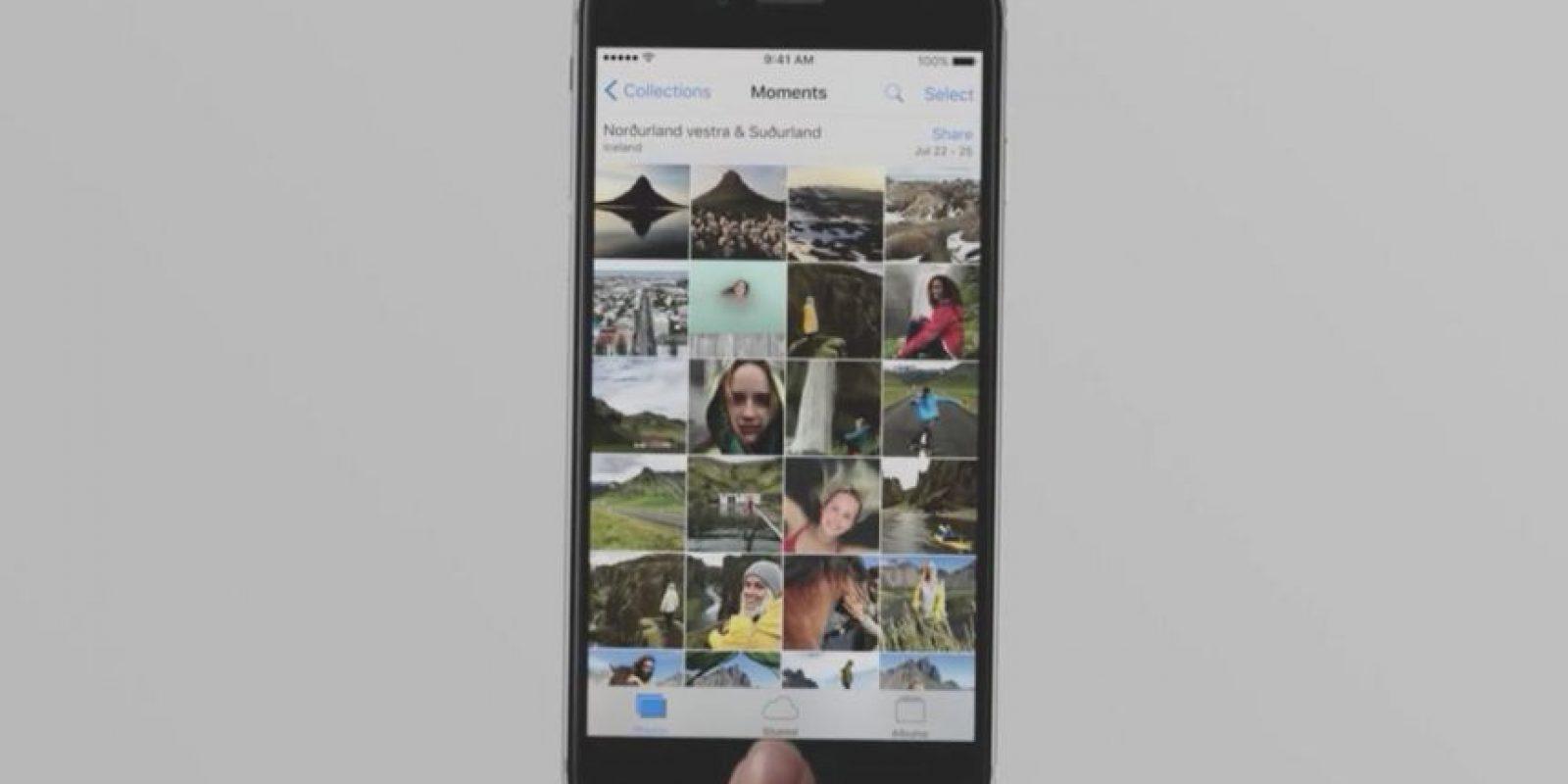 Las fotos en el dispositivo. Foto:Apple