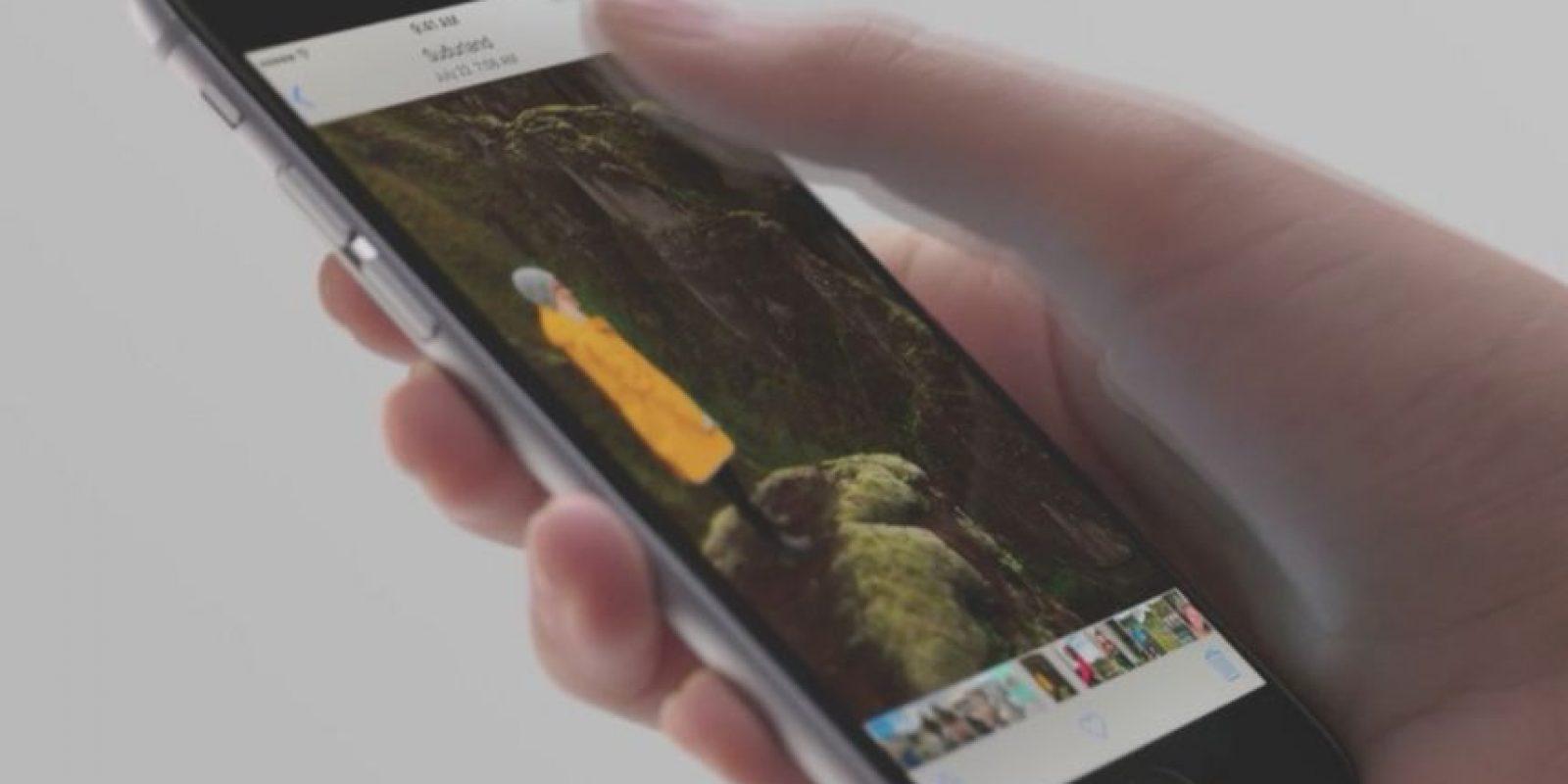 Live Photos permite crear un video de tres segundos mientras toman una foto. Foto:Apple