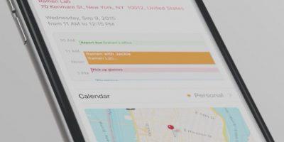 De esta forma se ve el calendario. Foto:Apple