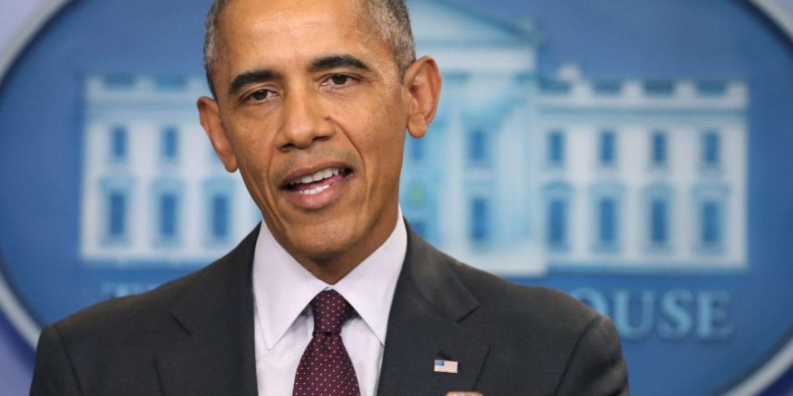 En un mensaje a la Nación, el presidente Obama culpó al Congreso de no cambiar las legislaciones para establecer un control de armas Foto:Getty Images