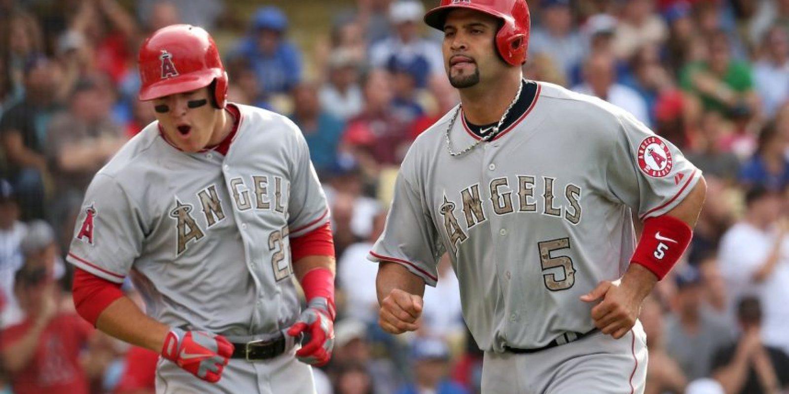 Albert Pujols y Mike Trout son la base de poder de los Angelinos