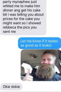 Él le mandó una suya. Le dijo que le mostrara el pastel. Foto:vía Imgur