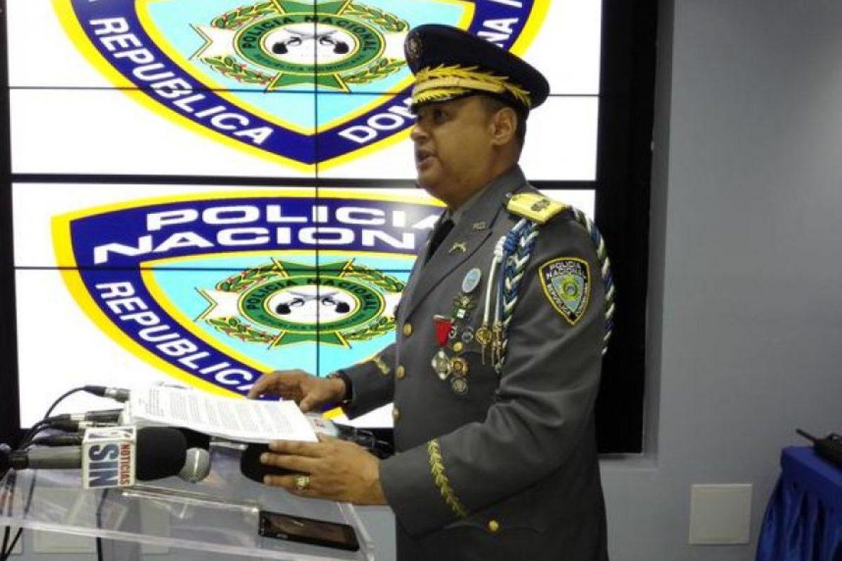 Vocero de la Policía, Maxmo Báez Foto:Twitter:@PoliciaRD