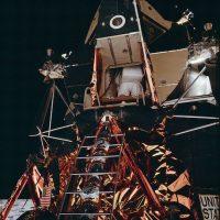 La salida de Neil Armstrong, el primer hombre en descender a la superficie lunar Foto:Flickr.com/projectapolloarchive