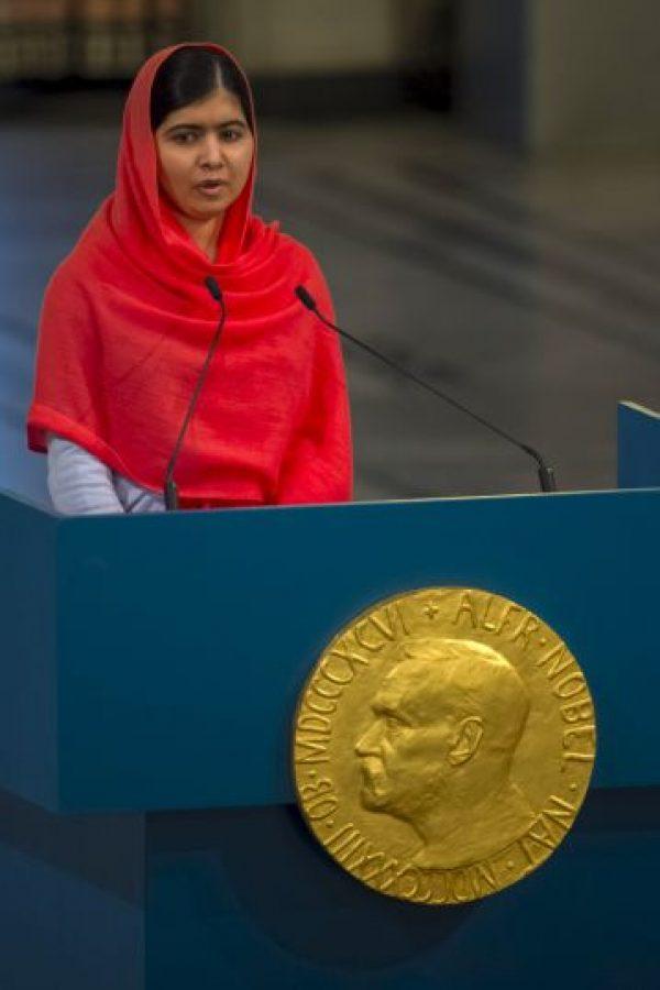 Malala Yousefzai, Premio Nobel de la Paz en 2014 Foto:Getty Images