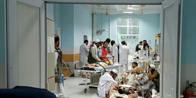 Un total de 100 pacientes se encontraban en el hospital al momento del ataque. Foto: AFP
