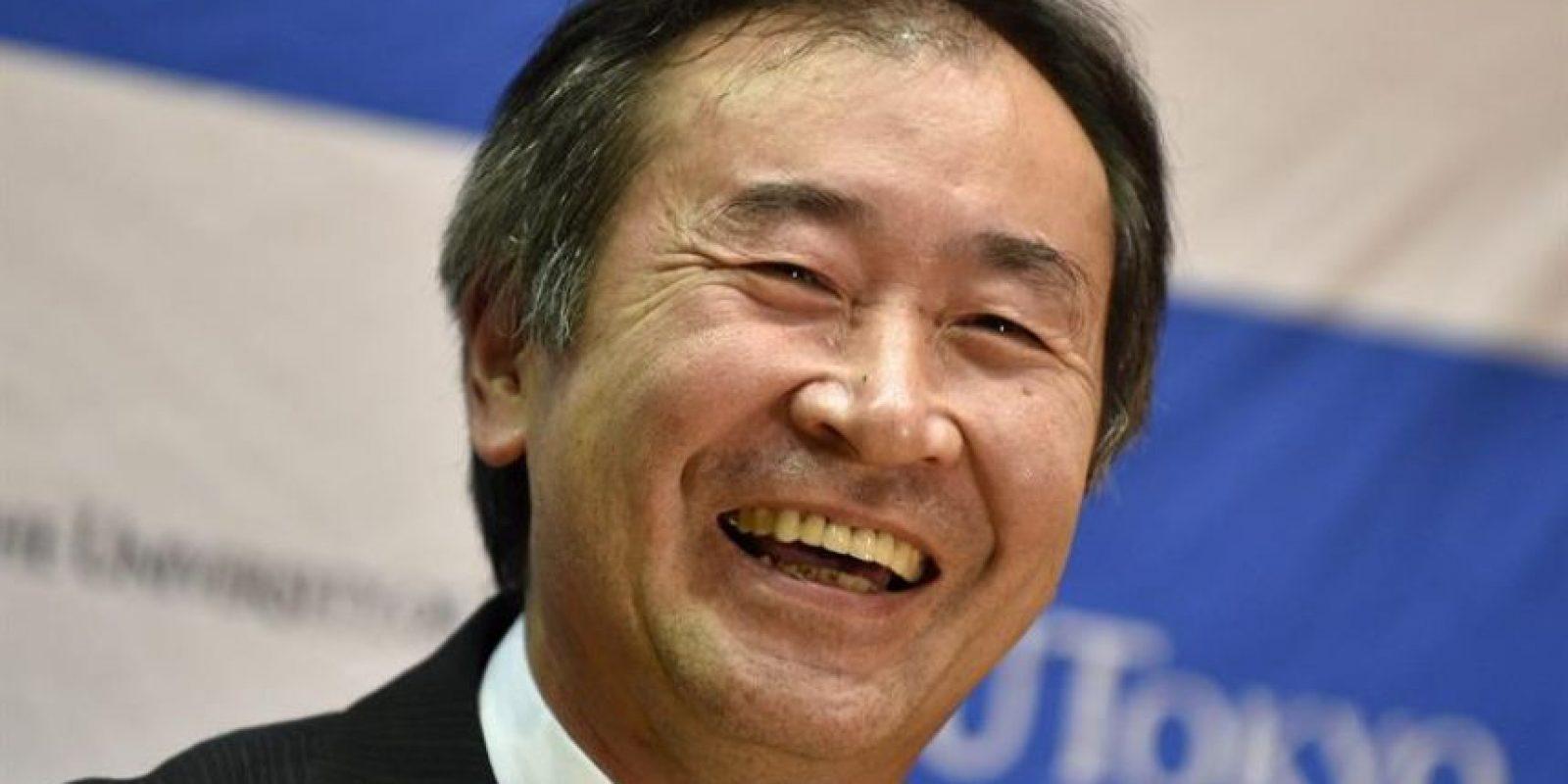 El físico japonés Takaai Kajita, de la Universidad de Tokio, da una rueda de prensa tras conocer que ha ganado el Premio Nobel de Física 2015 en Tokio (Japón) Foto:EFE