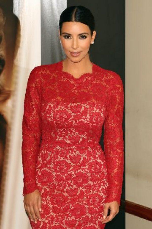 """La socialité lució este vestido durante la presentación de la fragancia """"True Reflection"""" en 2012 Foto:Getty Images"""
