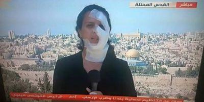 A pesar de su situación las televisora Al-Mayadeen pidió a la periodista continuar transmitiendo. Foto:Vía Twitter @Mogaza