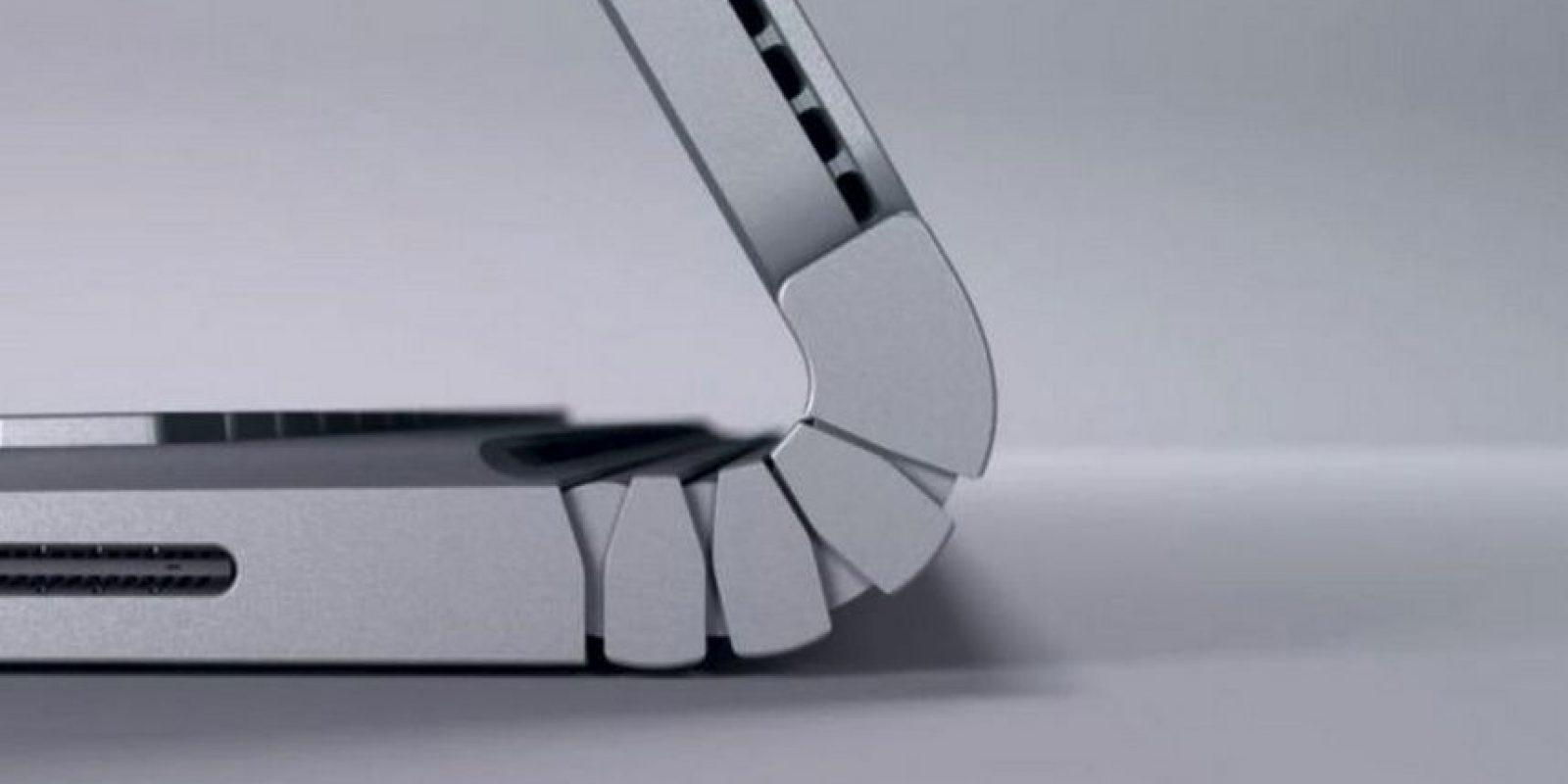 El dobles del dispositivo está diseñado especialmente para girar la pantalla y desmontarla del keyboard. Foto:Microsoft