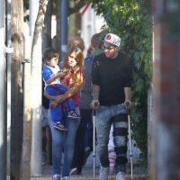 El futbolista argentino acudió con su pareja, Antonella Roccuzzo, a dejar a su hijo Thiago Messi al colegio. Foto:Grosby Group