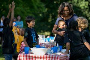 En un día de campo con Obama. Foto:AP