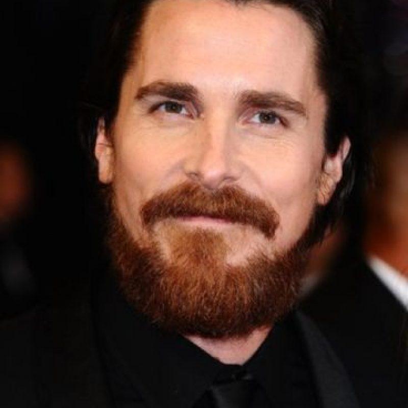 Otro que tiene una barba frondosa es Christian Bale. Foto:vía Getty Images