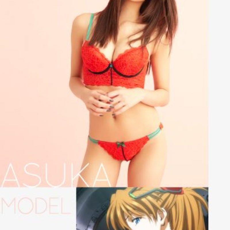 """Modelo """"Asuka Langley Soryu"""" Foto:Peach John"""