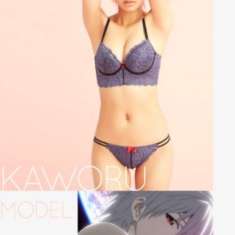 "Modelo ""Kaworu Nagisa"" Foto:Peach John"