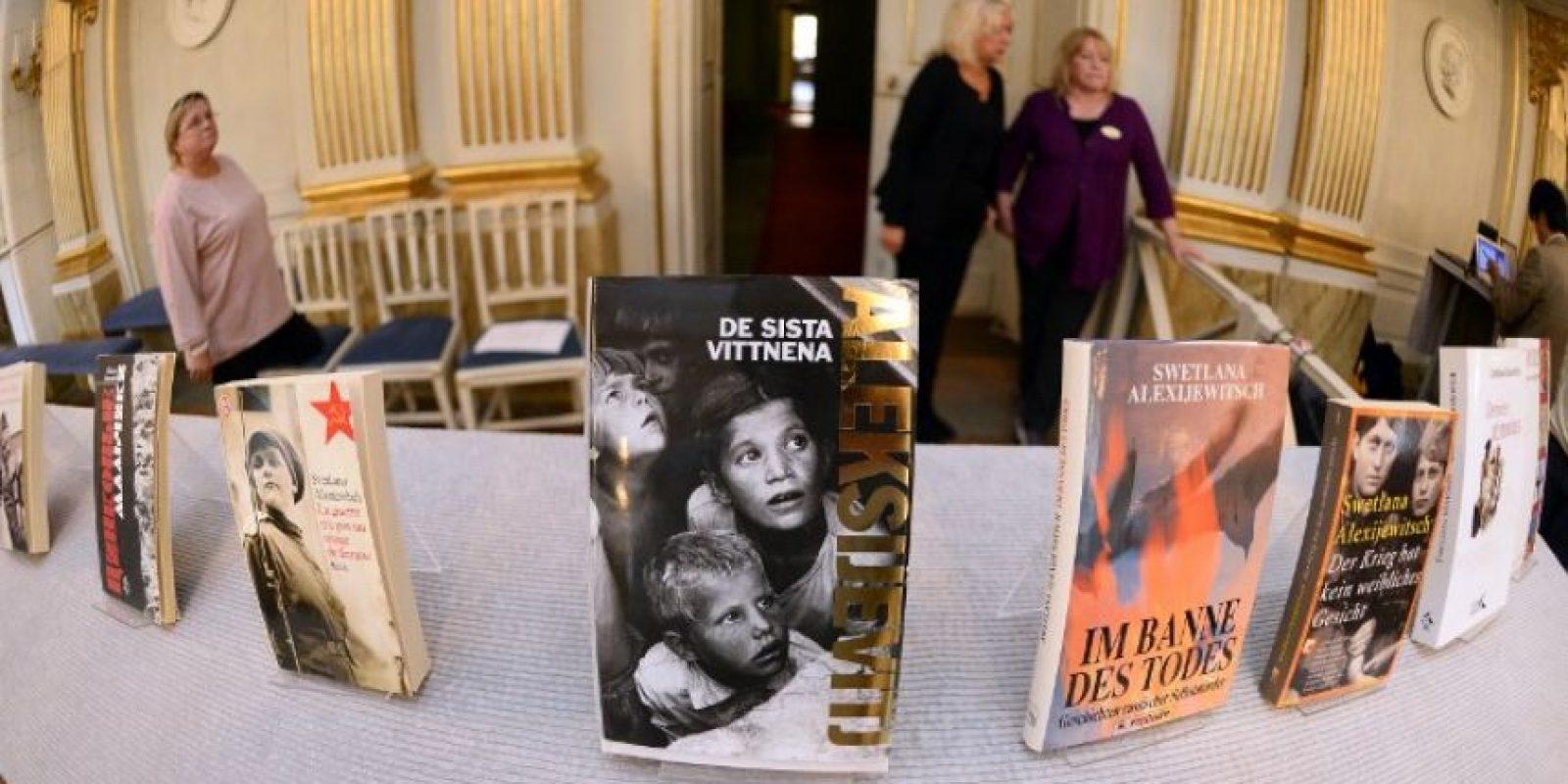 Entrevistó a más de 500 testigos del desastre nuclear de Chernobyl, del 26 de abril de 1986 Foto:AFP