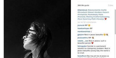 Y en la tercera se puede ver su rostro de perfil, en una imagen blanco y negro del pasado Foto:vía instagram.com/littleirishcat
