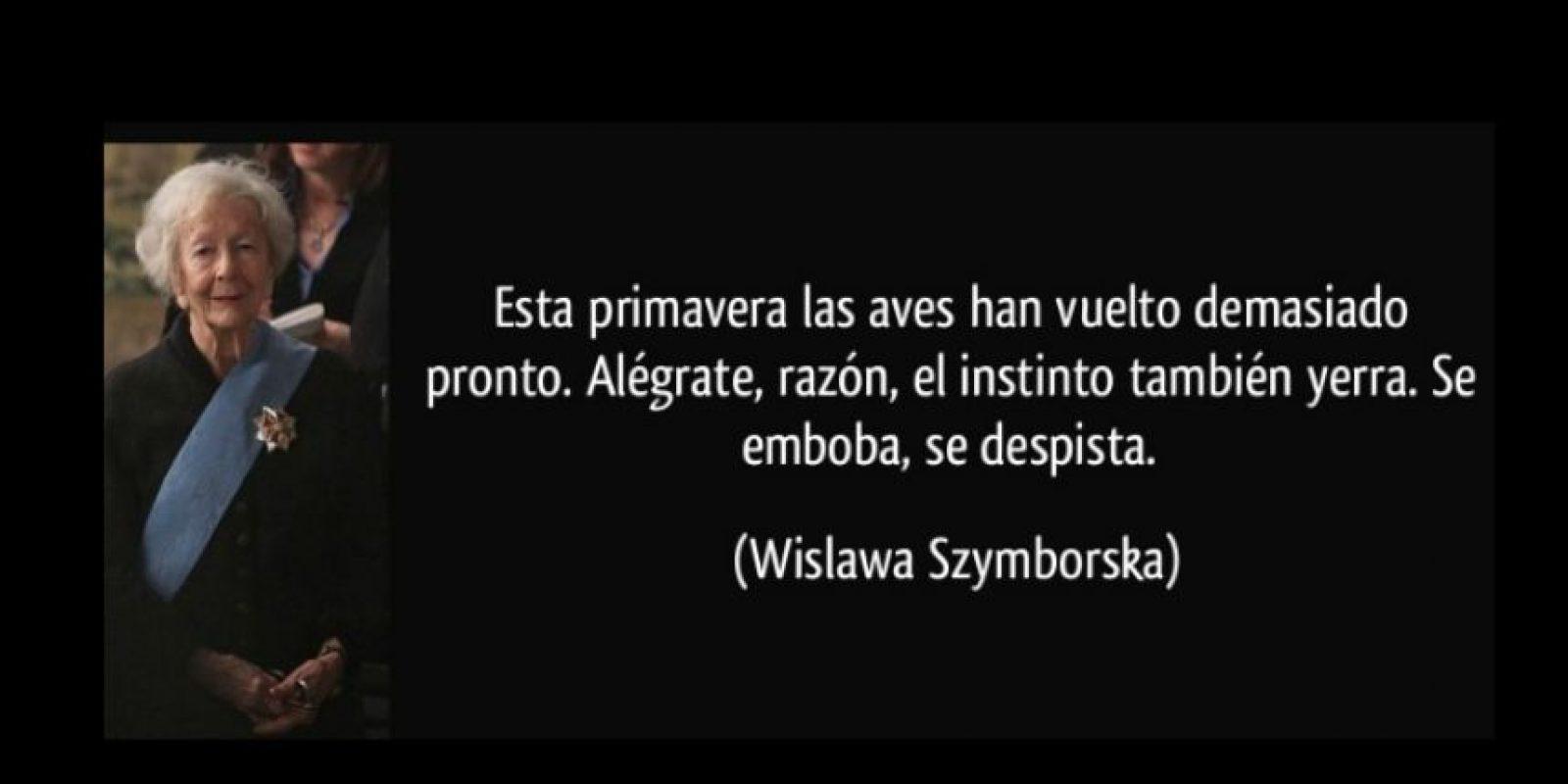 Wislawa Szymborska, reconocida en 1996 Foto:Tumblr