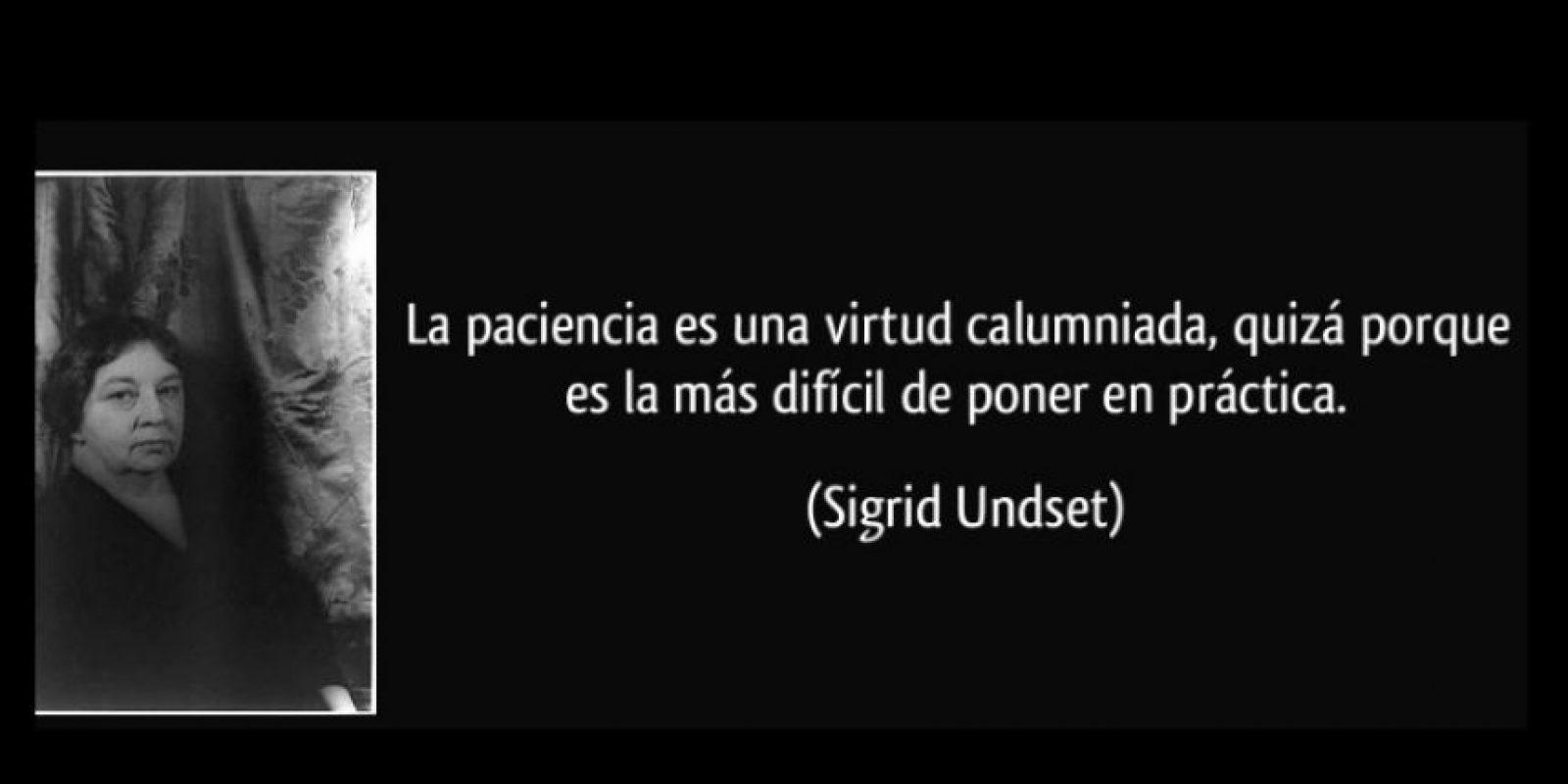 Sigrid Undset, reconocida en 1928 Foto:Tumblr