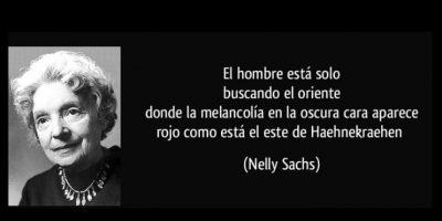 Nelly Sachs, reconocida en 1966 Foto:Tumblr