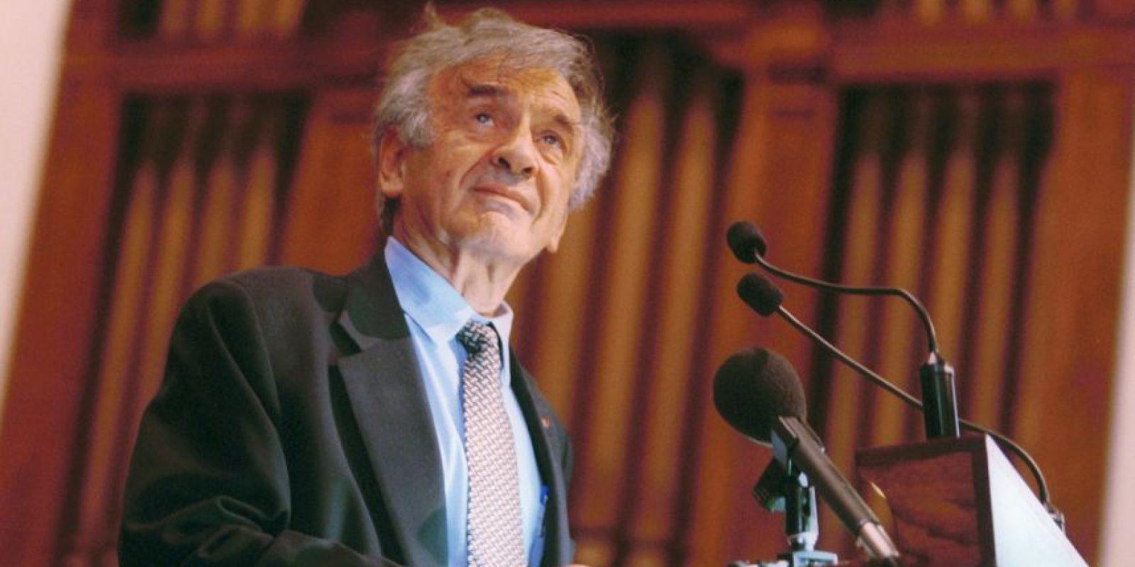 Elie Wiesel, escritor húngaro galardonado con el Premio Nobel de la Paz en 1986. Foto:Getty Images