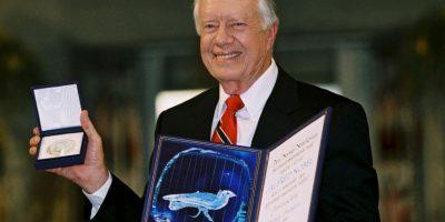 Jimmy Carter, expresidente estadounidense fue galardonado con el Premio Nobel de la Paz en 2002. Foto:Getty Images