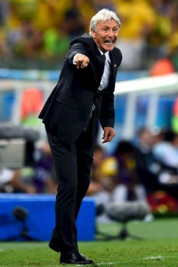 En enero de 2012 fue nombrado DT de Colombia, y fue con ellos al Mundial de Brasil 2014. Foto:Getty Images