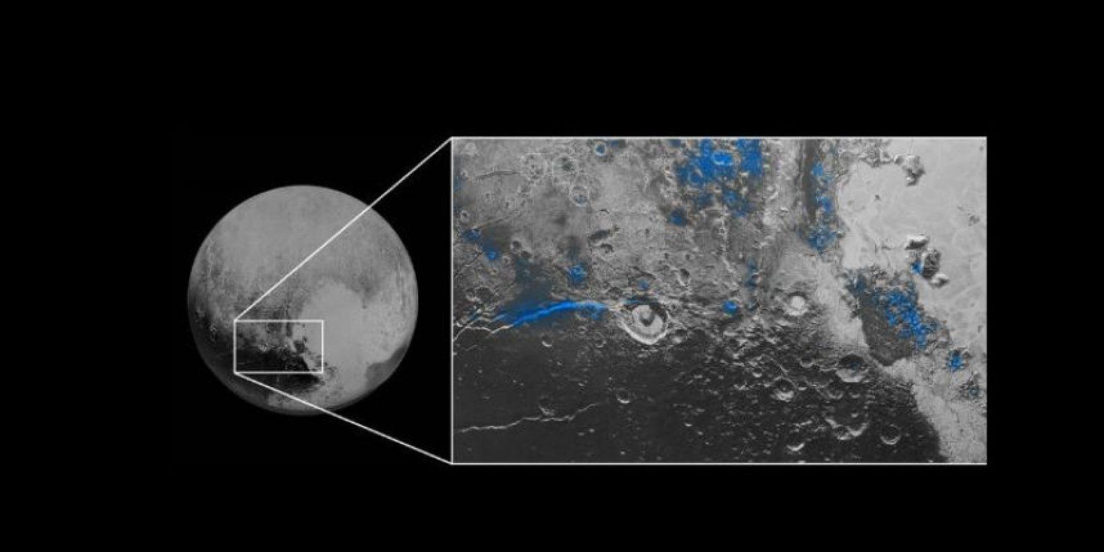 Los científicos también detectaron numerosas pequeñas regiones de hielo de agua. Foto:nasa.gov