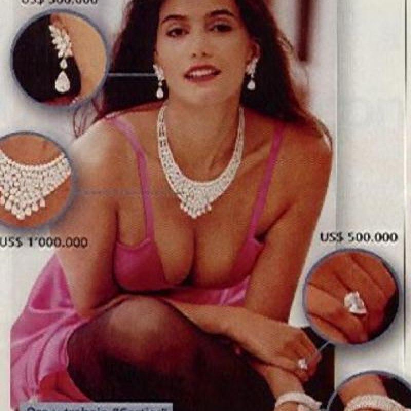 Sandra Murcia fue esposa de Efraín Hernández, uno de los capos del Cartel del Norte del Valle, cuando ya era una cotizada modelo. Foto:vía Colarte