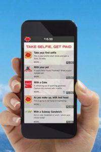 """Cuando se inscriban a """"Pay Your Selfie"""" serán recompensados con un dólar Foto:Pay Your Selfie"""