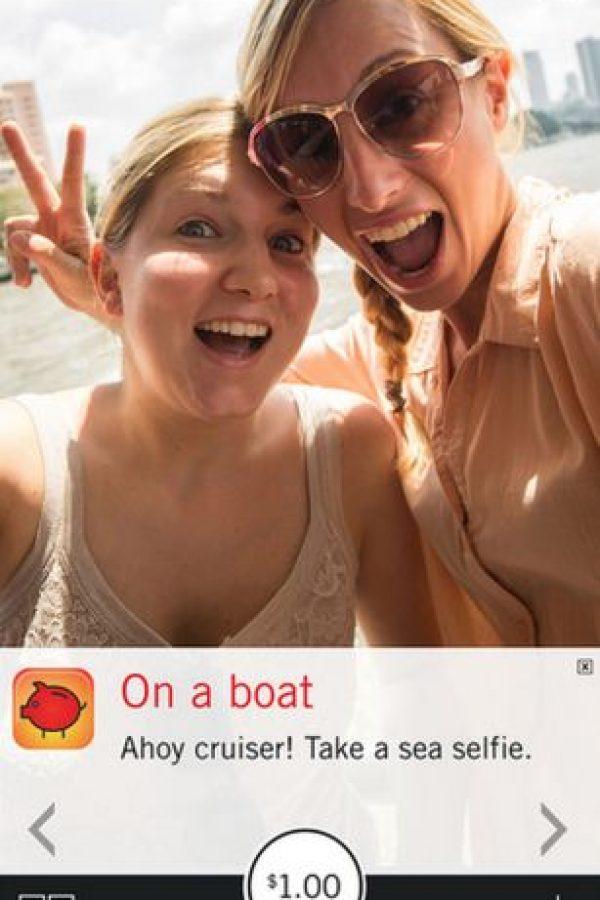 Los sábado hay retos especiales que también les darán un dólar Foto:Pay Your Selfie
