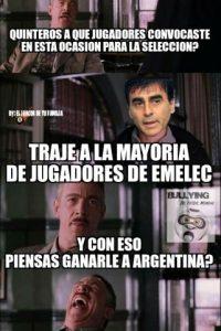 Y aunque se burlaron de Ecuador antes del duelo ante Argentina. Foto:Vía facebook.com/Bullying-del-Fútbol-Mundial-785576564852677