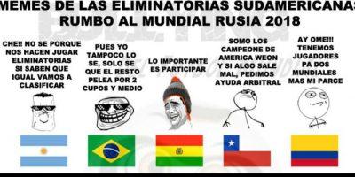 Comenzaron las Eliminatorias Sudamericanas… Foto:Vía facebook.com/Bullying-del-Fútbol-Mundial-785576564852677