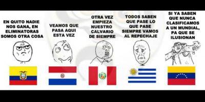 Y con ellas, los mejores memes de los duelos entre selecciones. Foto:Vía facebook.com/Bullying-del-Fútbol-Mundial-785576564852677