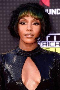 La cantante estadounidense Dawn Richard llegó con este ajustado vestido. Foto:Getty Images