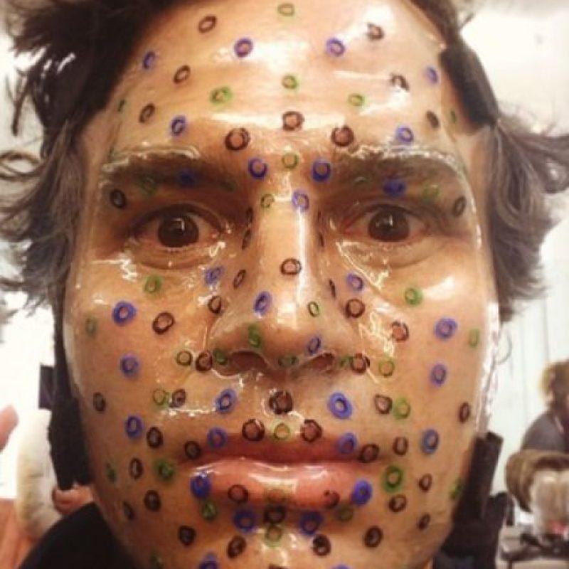 Para transformarse en este personaje, el actor usa una máscara que detecta cada uno de sus movimientos faciales. Foto:vía instagram.com/markruffalo