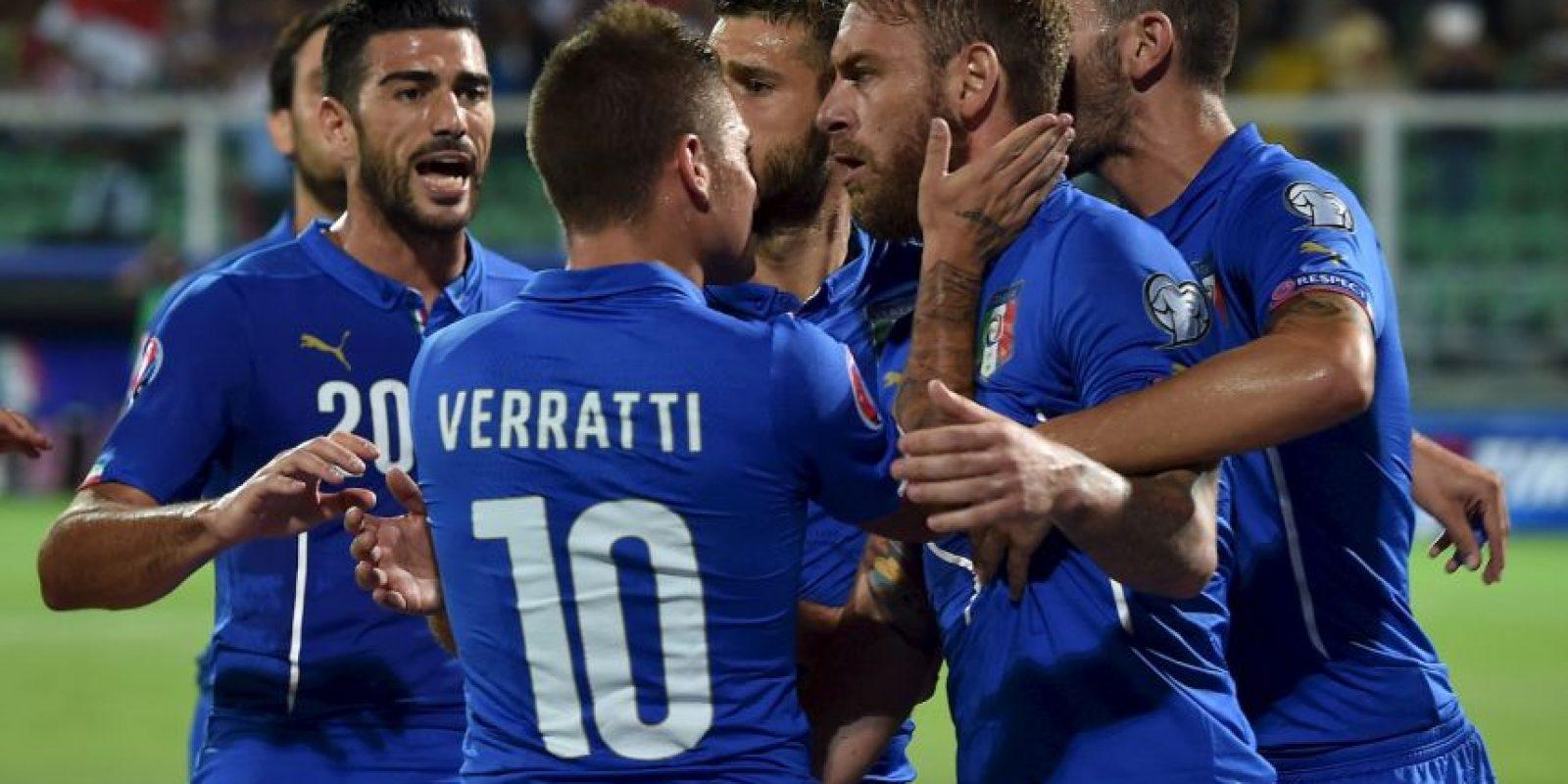 """Con un triunfo más, la """"Azurra"""" estará en la fase final de la Eurocopa como primero o segundo lugar del grupo H. Foto:Getty Images"""