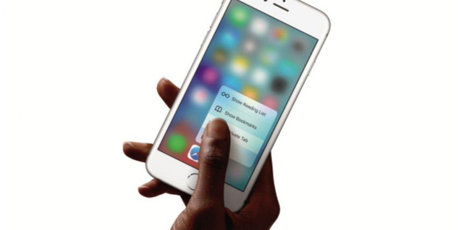 Y 3D Touch son dos características únicas de este dispositivo Foto:Apple