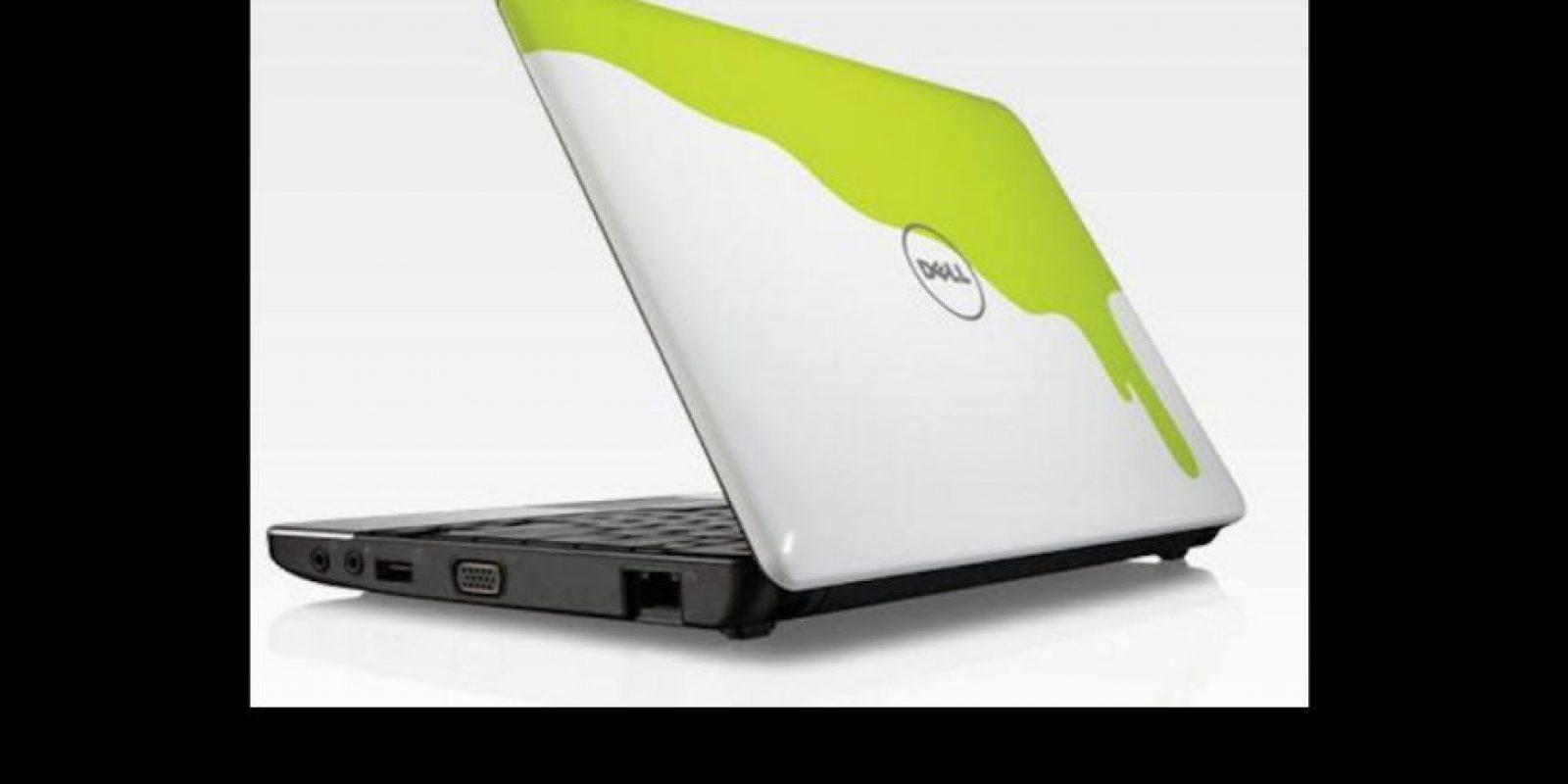 """Su diseño incluye líquido verde del canal de Viacom, así como con otros diseños basados en programas como """"SpongeBob SquarePants"""" e """"iCarly"""". Se puso a la venta en 2009 Foto:Dell/Nickelodeon"""