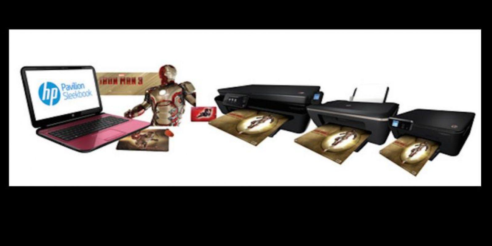 """HP presentó en 2013 una notebook Sleekbook y una impresora HP Deskjet Ink Advantage edición """"Iron Man"""" Foto:HP"""