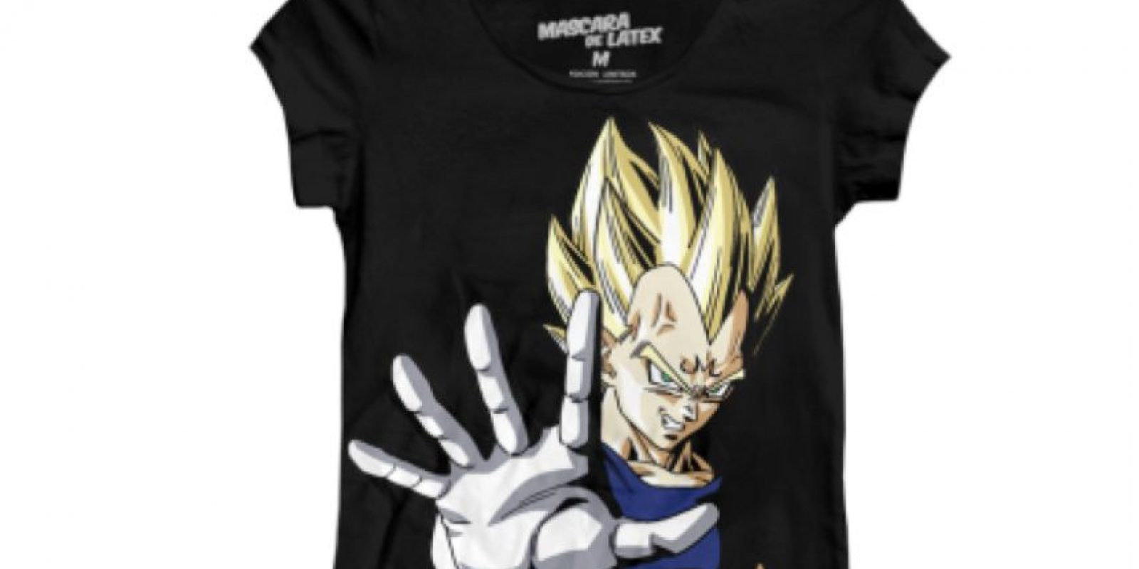 Máscara de Látex distribuye estas camisetas de Dragon Ball Z. Foto: vía Máscara de Látex
