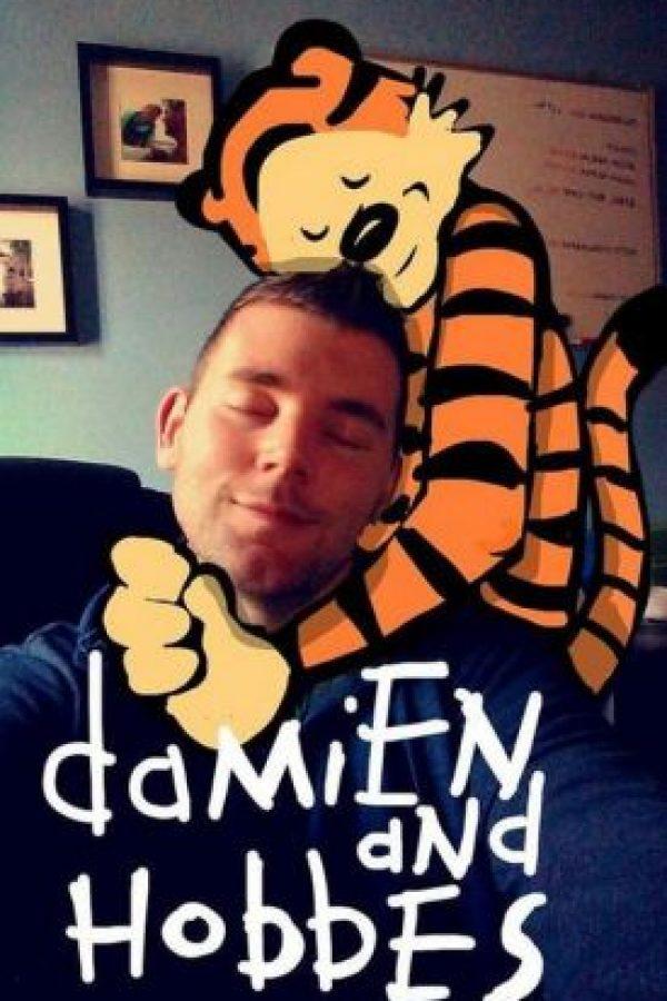 """""""Damien y Hobbes"""" (personaje de historieta cómica) Foto:Imgur"""