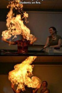 ¡Las exótias clases de química! Foto:Imgur
